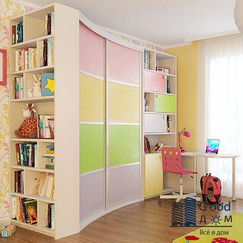 Встроенный шкаф в детскую комнату