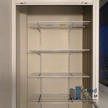 качественный шкаф с рольставни для лоджии