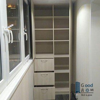 ЛДСП шкаф с выдвижными ящиками