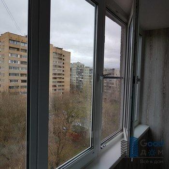 Распашное остекление балкона