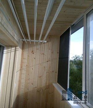 Евровагонка на балконе в хрущевке