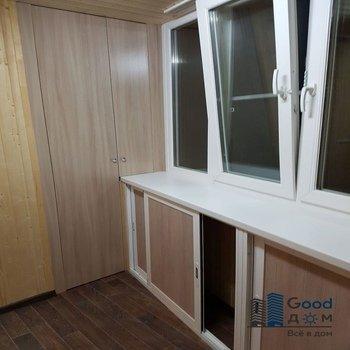 Фото внутренней отделки балкона деревянной вагонкой