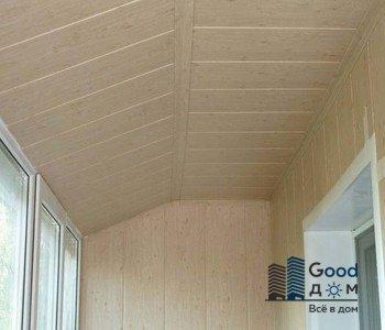 отделка потолка на балконе мдф панель
