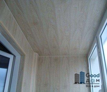отделка длинного балкона МДФ