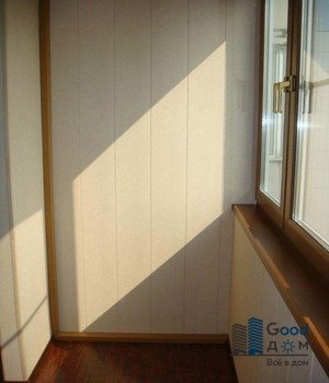 отделка балкона стены мдф