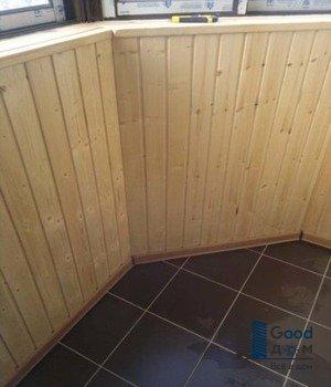 плитка на закругленном балконе