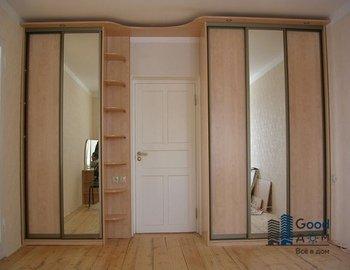 Шкаф купе с зеркальными дверями фото