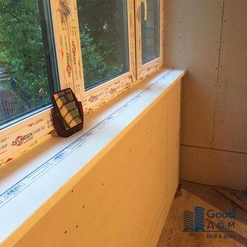 отделка угла балкона
