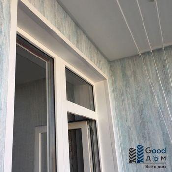 Отделка балкона ПВХ под ключ в доме серии II-49