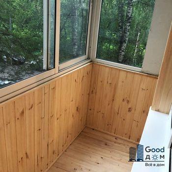 Отделка балкона с алюминиевым остеклением
