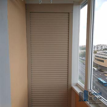 шкаф на балкон коричневого цвета