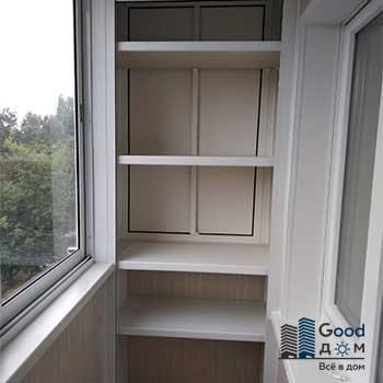 шкаф стеллаж на балкон