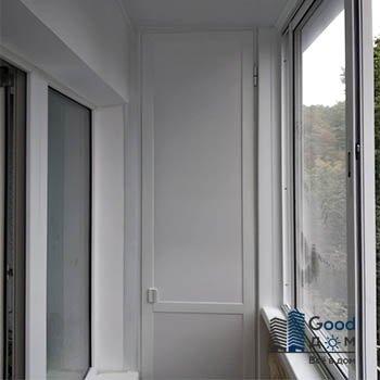 балкон П-44 шкаф металлопластик