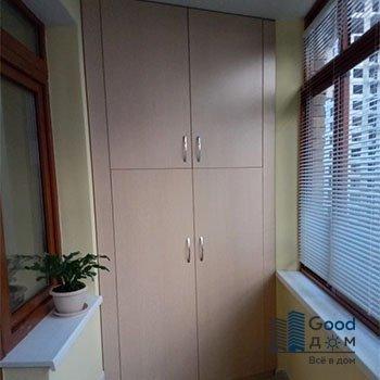 шкаф на балкон двухстворчатый