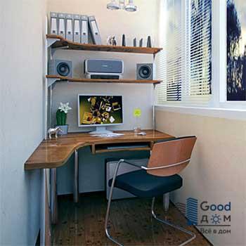Стол для компьютера на балконе
