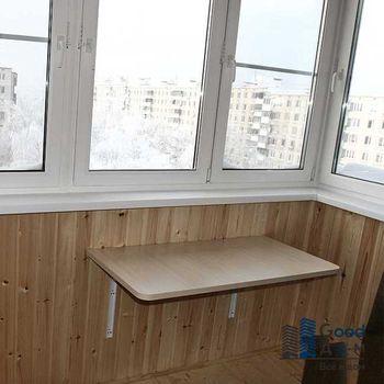 Компактный откидной столик на балкон