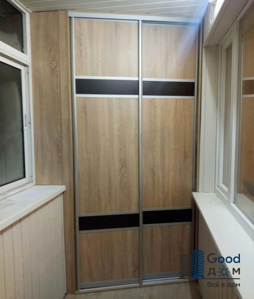 встроенные шкафы на балкон заказать в москве недорого