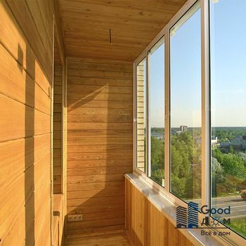Евровагонка балкон