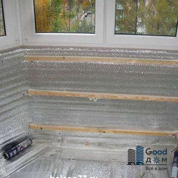 Гидроизоляция с утеплением стен и пола