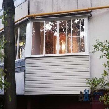 Обшивка балкона П-44 панелями
