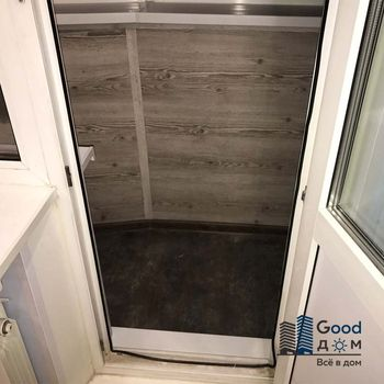 Отделка балкона Лодочка панелями ПВХ