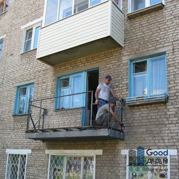 Ремонт балкона без остекления