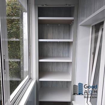 шкаф на балконе по индивидуальному проекту