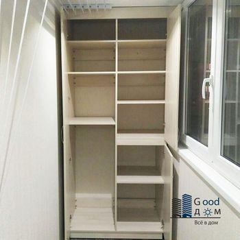 встроенный ЛДСП шкаф балкон