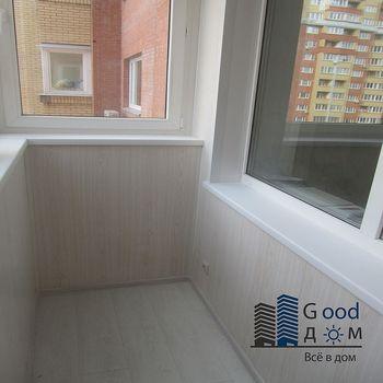 Ремонт балкона с обшивкой ПВХ