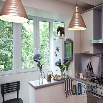 Фото барной стойки между кухней и балконом