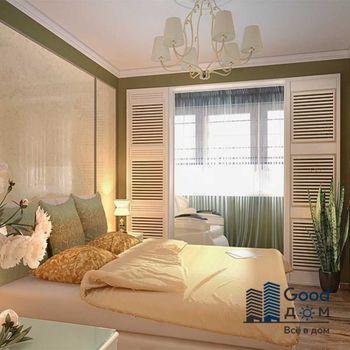 Балкон объединенный со спальней фото