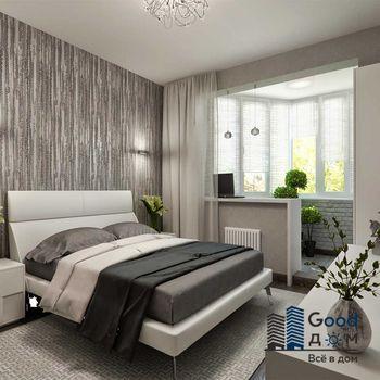 Спальня объединенная с лоджией