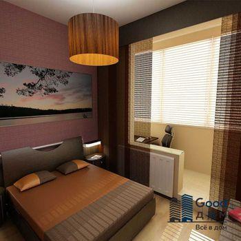 Спальня с лоджией фото