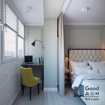 Спальня с присоединенным балконом