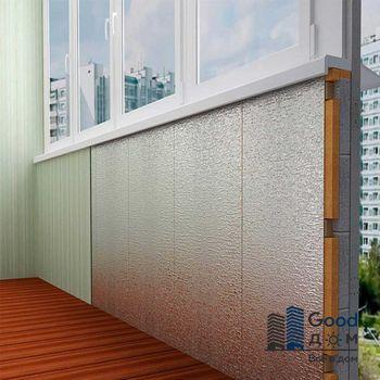 Утепление стен балкона пенофолом