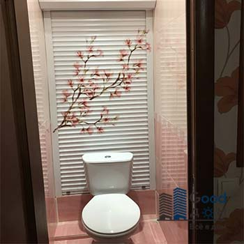 Рольставни в туалет с фотопечатью