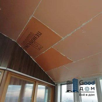 Панели ПВХ для потолка балкона