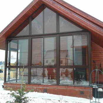 Холодное остекление загородного дома