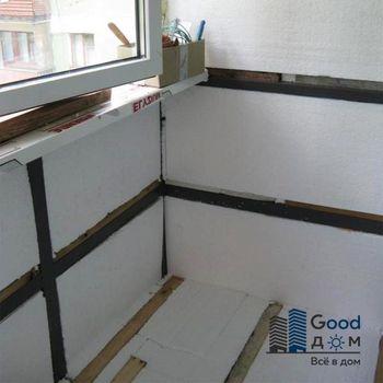 Утепляем балкон пенопластом