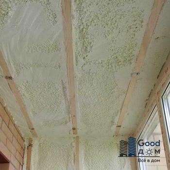 Утепление потолка пенополиуретаном