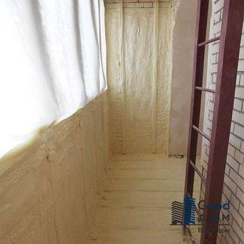 Пенополиуретан утепление балкона