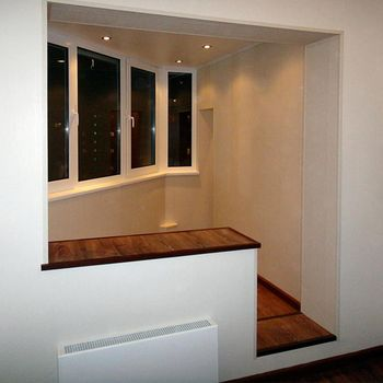 Присоединение балкона к комнате