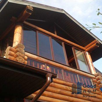 Коттеджи с остекленными балконами