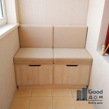 Маленький диванчик с ящиками