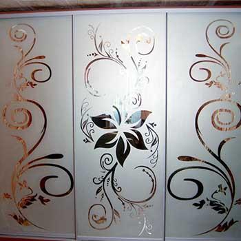 Двери-купе витражный рисунок
