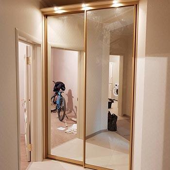 Двери-купе с зеркалом