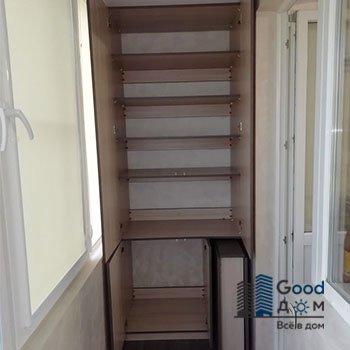 Распашной шкаф ЛДСП на балкон