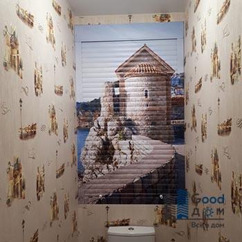 Рольставни с фотопечатью для туалета