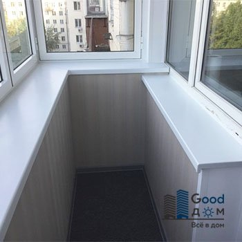 Отделка балкона ПВХ