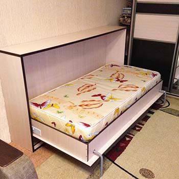 Горизонтально откидная кровать